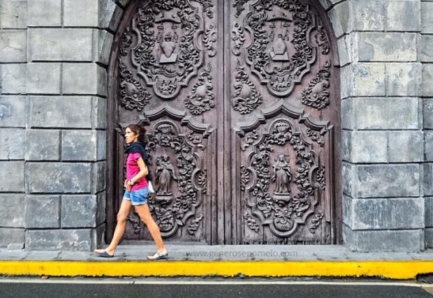 San Agustin Church side door